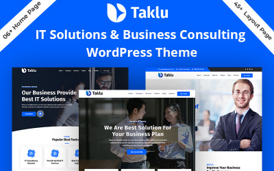 WordPress motiv Taklu - Technology & Business Service