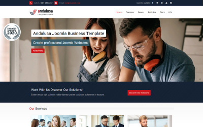 Szablon Joomla Andalusa Business-Corporation