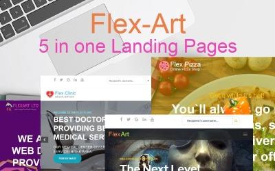 FlexArt - Pięć w jednym szablonie strony docelowej