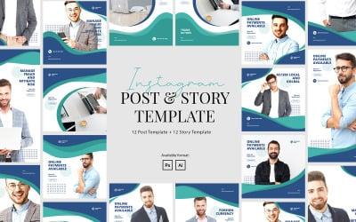Elegant Corporate Instagram Post Story Template for Social Media