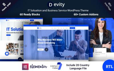 Devity - Tema de WordPress para servicios empresariales de soluciones de TI