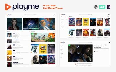 PLAYME - тема WordPress для новостей видеоигр