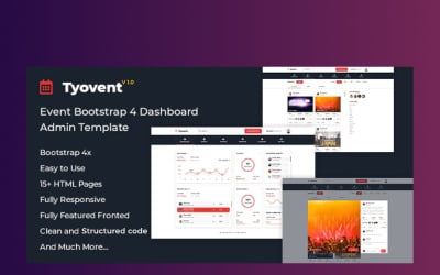 Tyovent - Event Management Dashboard Admin Template