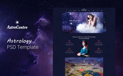 AstroCentre - Astrology PSD Template