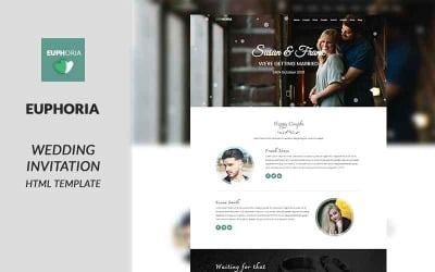 Euphoria - Wedding Invitation Landing Page Template