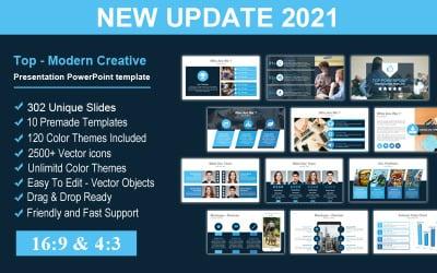 Top - Modern Creative Presentation PowerPoint template