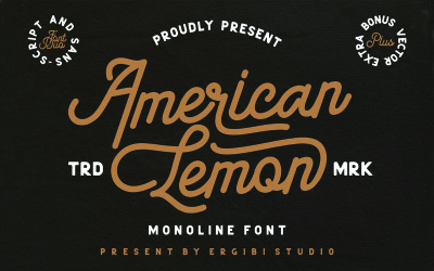 American Lemon Duo Font