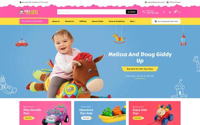 Багатоцільова адаптивна тема BigCommerce для трафаретів Kid's Toy
