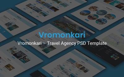 Vromonkari - Modèle PSD d'agence de voyage