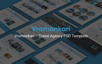 Vromonkari - Seyahat Acentası PSD Şablonu