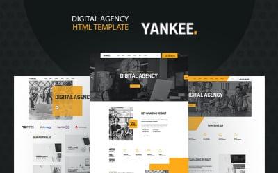 Yankee - Digital Agency HTML5 Website Template