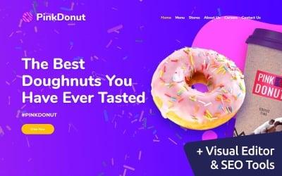 Pink Donut - Cupcake Bakery Moto CMS 3 Template