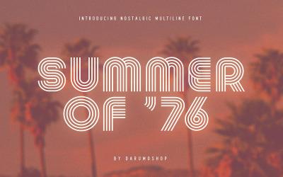 Sommer 0f 76 - Mehrzeilige Schriftart