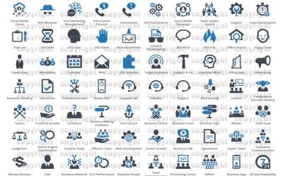 +10000 Conjunto de ícones de negócios