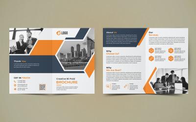 Бізнес двійковий дизайн брошури - шаблон фірмового стилю