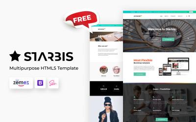 Gratis Starbis multipurpose HTML-webbplatsmall