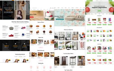 Ecomerc - En PSD-mall för e-handel online för multifunktion
