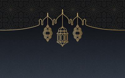 Lantern Islamic Card Background