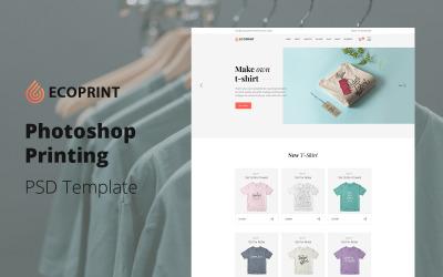 Ecoprint - PSD шаблон для полиграфических услуг Photoshop