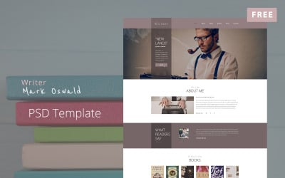 Mark Oswald - Plantilla PSD gratuita de diseño de sitios web para escritores