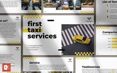 Taxi Service Presentation PowerPoint Template