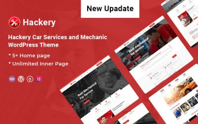 Hackery - Car Services and Mechanic WordPress Theme