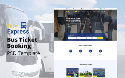 BusExpress - Szablon PSD do rezerwacji biletów autobusowych