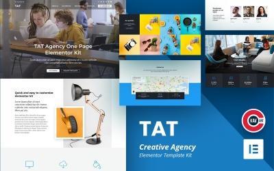 TAT - Kit élémentaire d'une page pour agence créative
