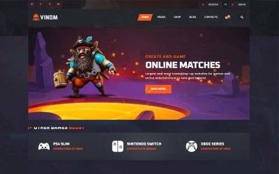 Vinom - Oyun Kredisi Web Sitesi Şablonu Satın Alın