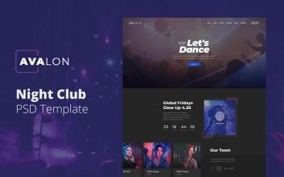 Avalon - Night Club PSD Template