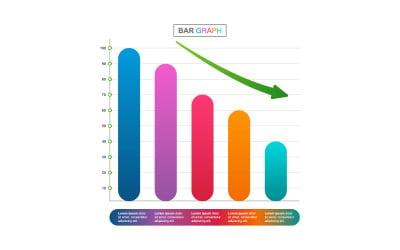 Decreasing Financial Data Infographic Elements
