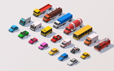 Polygonia City Cars Pack 3D-model