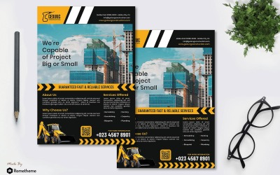 Gedung Construction - Flyer RB - Шаблон фирменного стиля
