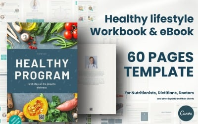 Healthy Lifestyle Workbook Ebook Template Planner