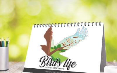 Шаблон логотипу життя птахів
