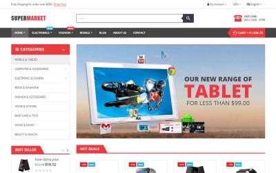 Тема SuperMarket Store Elementor для електронної комерції PrestaShop