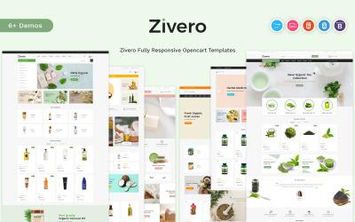 Zivero - OpenCart-Vorlage für Bio & Schönheit