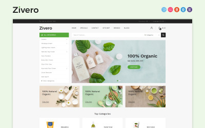 Zivero - Plantilla OpenCart Orgánica y de Belleza
