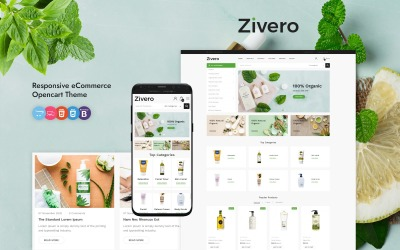 Zivero - шаблон OpenCart для органики и красоты