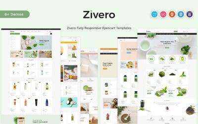 Zivero - Шаблон OpenCart для органіки та краси