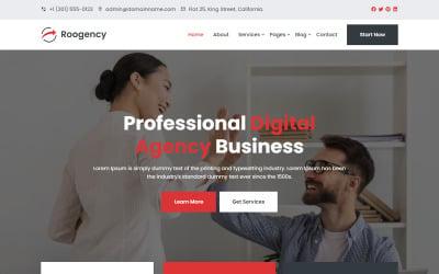 Roogency - Corporate Business Website Template
