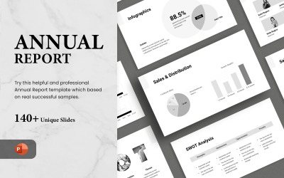 Éves jelentés - Sima animált PowerPoint sablon