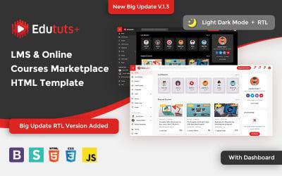 Edututsplus - Modelo de site do Marketplace de LMS e de cursos online