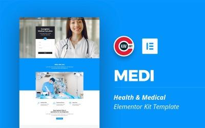 Medi - sada zdravotnických a lékařských prvků