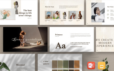 MERYLIN - PowerPoint-mall för animerade paket för varumärkesriktlinjer