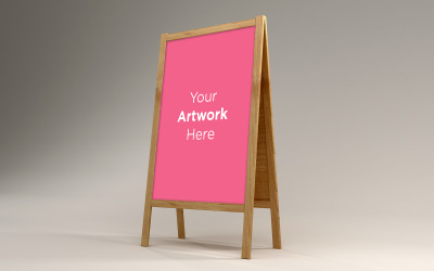 Blank A Stand Advertising Board design product mockup