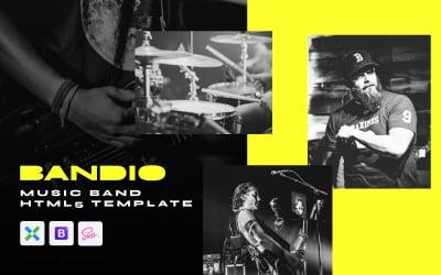 Bandio - Modern HTML5 Music and Band Website Template