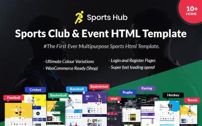 Sports Hub - Plantilla de página de destino de eventos y clubes deportivos