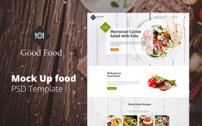 God mat - Webbplats Mock Up Food PSD-mall