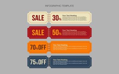 Banner design infografiska element